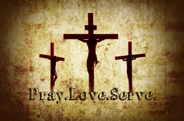 Pray Love Serve Cross
