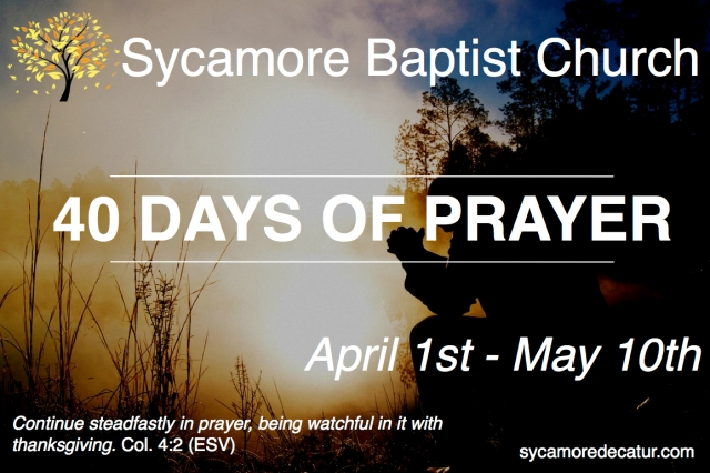 40 Days of Prayer Graphic