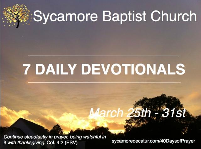 Devotional Day 4