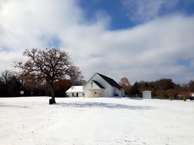 Sycamore Baptist Church Snow